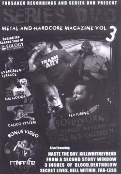 Series DVD, Metal And Hardcore Volume 3 DVD (Sale price!)
