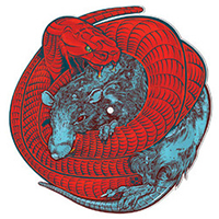 "Red Union- Rats And Snakes 10"" (Snake & Rat Shaped Vinyl)"