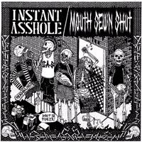 "Instant Asshole / Mouth Sewn Shut- Split 7"" (Black & Silver Vinyl)"