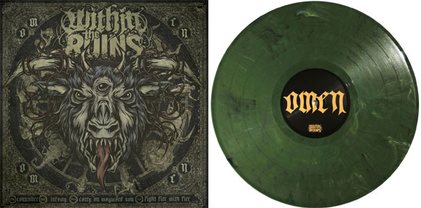 Within The Ruins- Omen LP (Solid Red Vinyl, Etched B-Side)