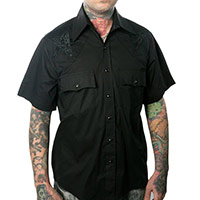 Hellbilly Baphomet button up Western shirt by Kreepsville 666