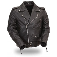 Basic Motorcycle Jacket- BLACK leather
