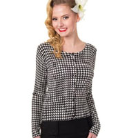 Nightscape Houndstooth / Dogstooth Cardigan by Banned Apparel - SALE