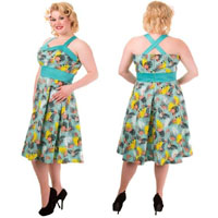 Wanderlust Flamingo Halter Plus Size Dress by Banned Apparel - Sale sz 4X only