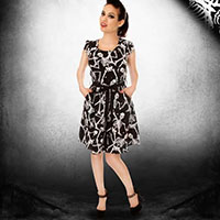 Bones of Betrayal Dress by Folter - SALE sz L & XL only