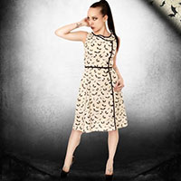 Web of Darkness Dress by Folter - SALE sz XS & S only