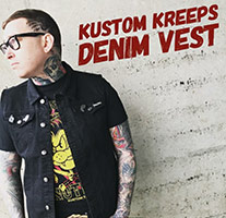 Black Denim Vest by Kustom Kreeps / Sourpuss - SALE - S only