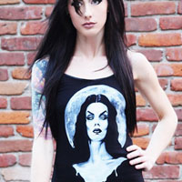 Moonlight Vampira Camisole Tank by Shayne of the Dead & Low Brow Art Company - SALE sz S only