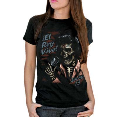 El Rey Vive girlfriend shirt by Lucky 13 - SALE sz L only