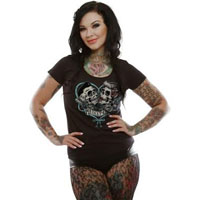 That's A-Muerte Girls Scoop Neck shirt by Lucky 13