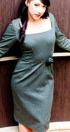 Nightfall Grey Stretch Twill Dress by Lucky 13 - SALE sz L only