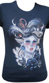 The Mad Ones girls fitted shirt by Low Brow Art Company - SALE sz M only