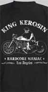 King Kerosin- Hardcore Zombie Maniac on a black shirt by Timeless Clothing - SALE sz 3x only