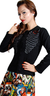 Lovely Ribs Cardigan by Steady in ivory only - SALE sz L & XL only