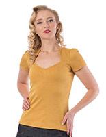 Sophia Girls Rockabilly Top by Steady - in Mustard - SALE