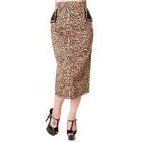 Leopard Pencil Skirt by Banned Apparel - SALE sz XS & S only