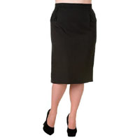 Black Plus Size Pencil Skirt by Banned Apparel - SALE sz 4X only