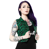Essential Green Zebra Gal's Vest - by Sourpuss - SALE sz 2X only