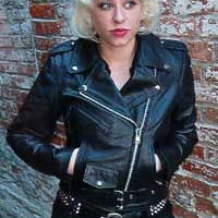 Girls Biker Jacket- BLACK leather