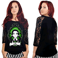 Dahlia Raglan by Too Fast Clothing - Poison Wednesday - SALE sz M only