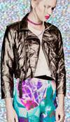 Vinyl Girls Moto Jacket in BLACK/SILVER by Lip Service - SALE sz M & L only