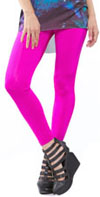 Spandex Skinny Cigarette Pants in HOT PINK by Lip Service - SALE sz XS Only