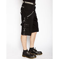 Bondage Shorts w Straps by Tripp NYC -  Solid Black