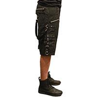 Bondage Shorts w Straps by Tripp NYC -  Black Pinstripe