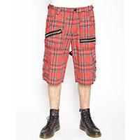 Bondage Shorts w Straps by Tripp NYC -  in Red Plaid