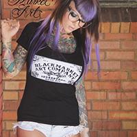 Ouija Board scoop neck Girls Shirt by Black Market Art Company &  Artist Josh Stebbins - SALE sz M only