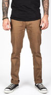 Delgado Skinny Straight Leg Pants by Brixton- TOFFEE