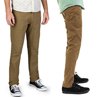 Reserve Standard Fit 5 Pocket Jean by Brixton- DARK KHAKI
