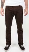 Reserve Twill Slim Straight Leg Pants by Brixton- BROWN (Sale price!)