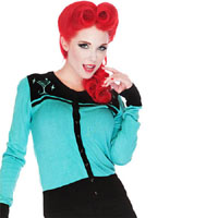 Martini Cardigan by Voodoo Vixen/Living Dead Souls - SALE
