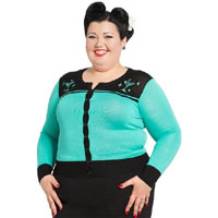 Martini Cardigan by Voodoo Vixen/Living Dead Souls - Plus Size - SALE