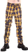 Original 15 Zip Bondage Pants (Wool Blend) by Tiger Of London- YELLOW PLAID sz 40 only