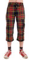 3/4 Pants (Long Short) by Tiger Of London- MULTI PLAID (Cotton Blend) - sz 28 only