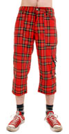 3/4 Pants Zip Bondage (Long Short) by Tiger Of London-RED PLAID