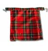 Red Plaid Wool Bum Flap by Tiger Of London