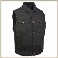 Denim Vest by Milwaukee Leather- Black