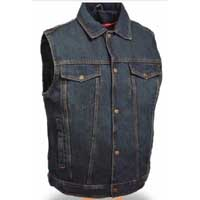 Denim Vest by Milwaukee Leather- Blue