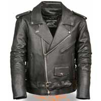 Classic Side Lace Motorcycle Jacket by Event Leather