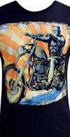Eerie Rider guys slim fit shirt by Low Brow Art Company - artist Mike Bell - SALE sz 2X only
