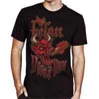 Devil's Brew Image on a black shirt by Felon Clothing - SALE sz M only