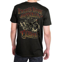 Ladies Love Outlaws Biker Image on a black shirt by Felon Clothing - SALE sz S & M only