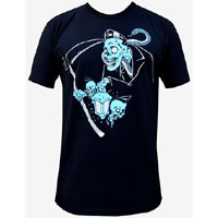 Ghost Reaper guys slim fit shirt by Low Brow Art Company - artist Rudey Horror - SALE sz S only