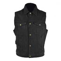 Denim Vest by Unik- BLACK