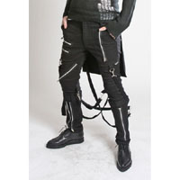 Bumflap Bondage Pants by Tripp NYC in Black - Unisex