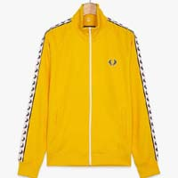 Fred Perry Laurel Track Jacket- YELLOW (Sale price!)