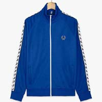 Fred Perry Laurel Track Jacket- REGAL BLUE (Sale price!)